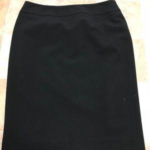 Nine West knee length black skirt